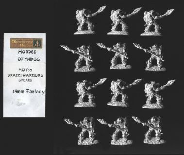 Alternative Armies 15mm Fantasy HOT50 Dracci with Spear (Dragonmen) (x 12)